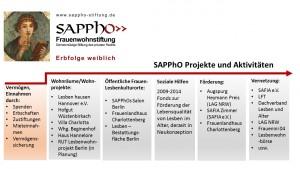 Grafik SAPPhO Projekte und Aktivitäten 2015