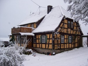 Fachwerkhaus vom Haupthaus aus gesehen - 2007