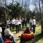 Die Spreediven singen zum Nachbarinnentreffen